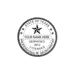 Texas Professional Geoscientist Seal
