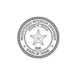 Texas Registered Interior Designer Seal