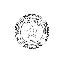 Texas Registered Interior Designer Seal