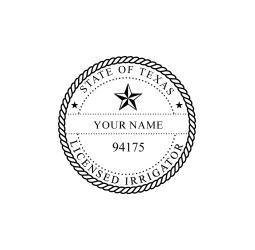 Texas Licensed Irrigator Seal