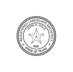 Texas Registered Landscape Architect Seal