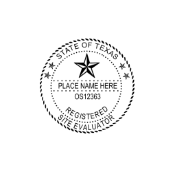 Texas Registered Site Evaluator Seal