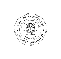 Connecticut Licensed Architect Seal