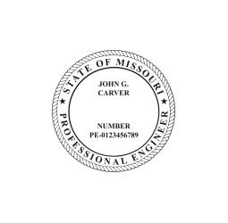 Missouri Professional Engineer Seal