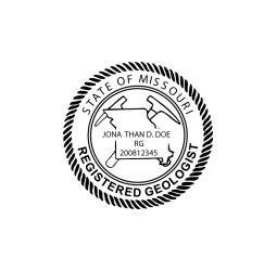 Missouri Registered Geologist Seal