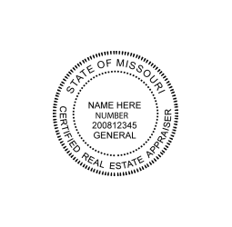 Missouri Certified Real Estate Appraiser Seal