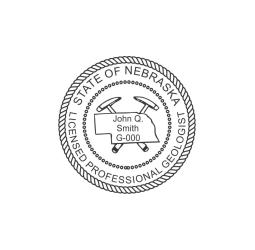 Nebraska Professional Geologist Seal