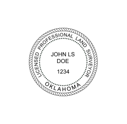 Oklahoma Professional Land Surveyor Seal