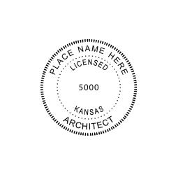 Kansas Licensed Architect Seal