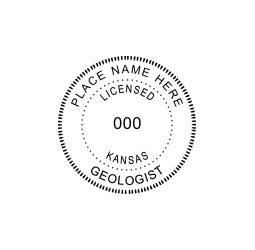 Kansas Licensed Geologist Seal