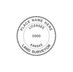 Kansas Licensed Land Surveyor Seal