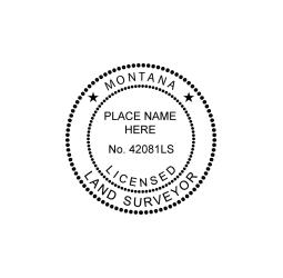 Montana Licensed Land Surveyor Seal