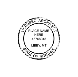Montana Licensed Architect Seal