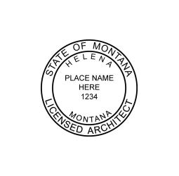 Montana Licensed Architect-2 Seal
