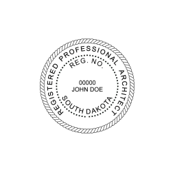 South Dakota Professional Architect Seal