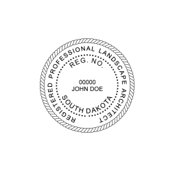 South Dakota Landscape Architect Seal