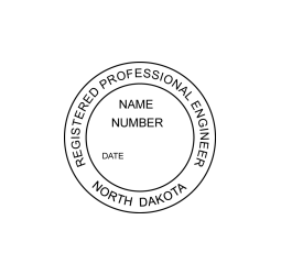 North Dakota Registered Professional Engineer Seal