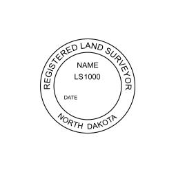 North Dakota Professional Land Surveyor Seal