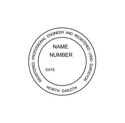 North Dakota Registered Engineer and Land Surveyor Seal