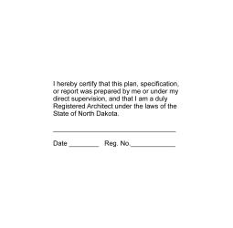 North Dakota Registered Architect Stamp