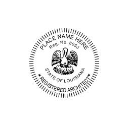 Louisiana Registered Architect Seal