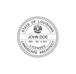 Louisiana Licensed Landscape Architect Seal