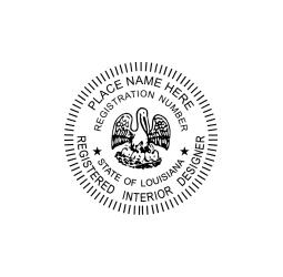Louisiana Registered Interior Designer Seal