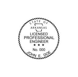 Arkansas Licensed Engineer Seal
