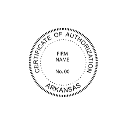Arkansas Certificate of Authorization Seal