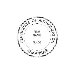 Arkansas Certificate of Authorization Seal