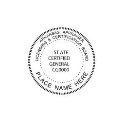 Arkansas Licensing Appraiser, Licensing & Certification Seal