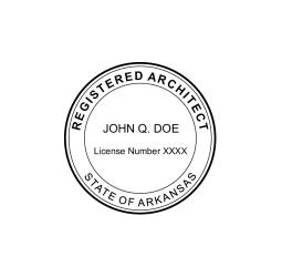 Arkansas Registered Architect Seal