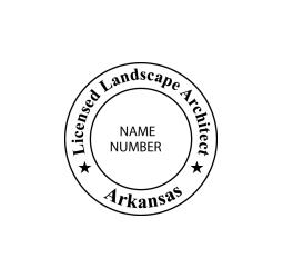 Arkansas Licensed Landscape Architect Seal