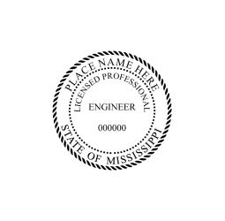 Mississippi Professional Engineer Seal
