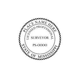 Mississippi Professional Surveyor Seal