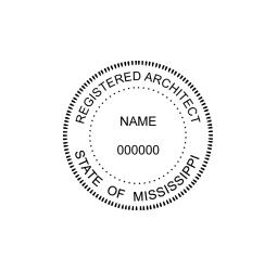 Mississippi Registered Architect Seal