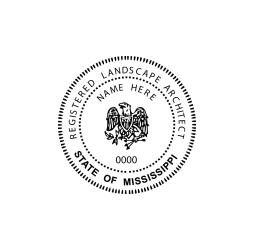 Mississippi Registered Landscape Architect Seal