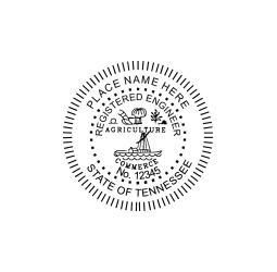 Tennessee Registered Engineer Seal