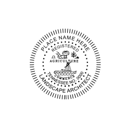 Tennessee Registered Landscape Architect Seal