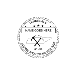 Tennessee Licensed Geologist Seal