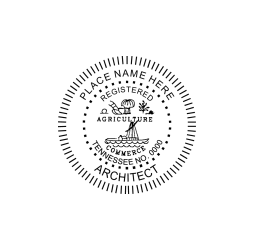 Tennessee Registered Architect Seal