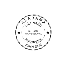 Alabama Licensed Engineer Seal