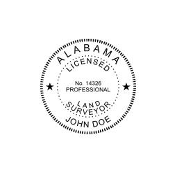 Alabama Professional Land Surveyor Seal