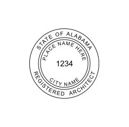Alabama Registered Architect Seal