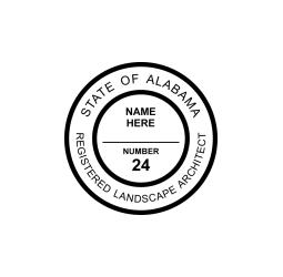 Alabama Registered Landscape Architect Seal