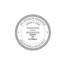 Florida Interior Designer Architect Seal