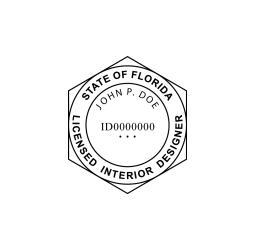 Florida Licensed Interior Designer Seal