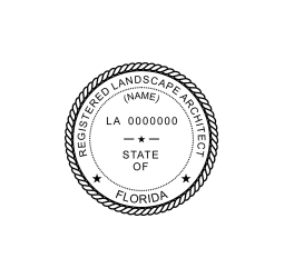 Florida Registered Landscape Architect Seal