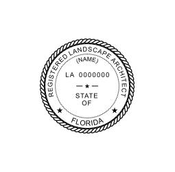 Florida Registered Landscape Architect Seal