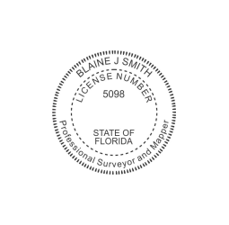 Florida Professional Survey Mappers Seal